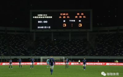 Shijiazhuang Ever Bright F.C. 3-3 Qingdao Huanghai F.C.